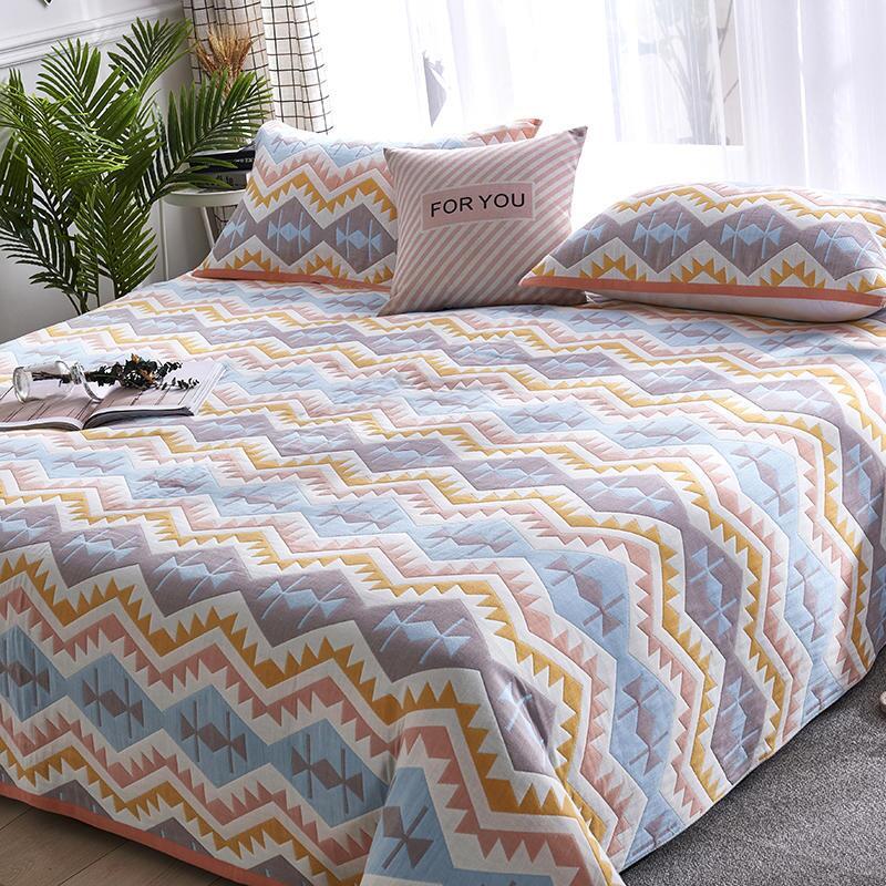 六層棉紗床罩床蓋全棉加厚雙人1.8m大床6層紗布床單純棉單人宿舍