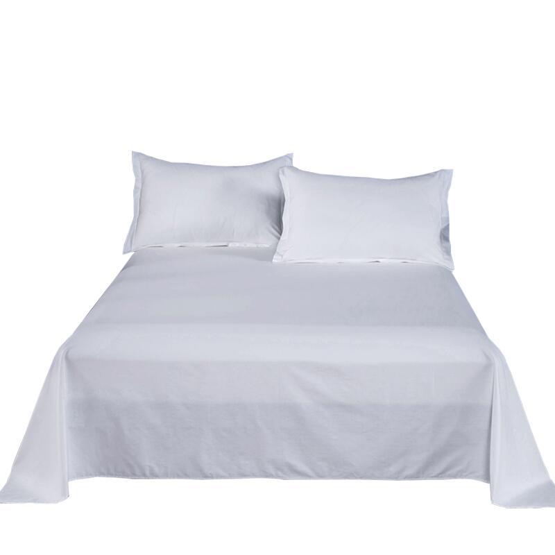 純棉白色床單單件1.2/1.8m單雙人床加厚全棉被單粉色酒店賓館單子
