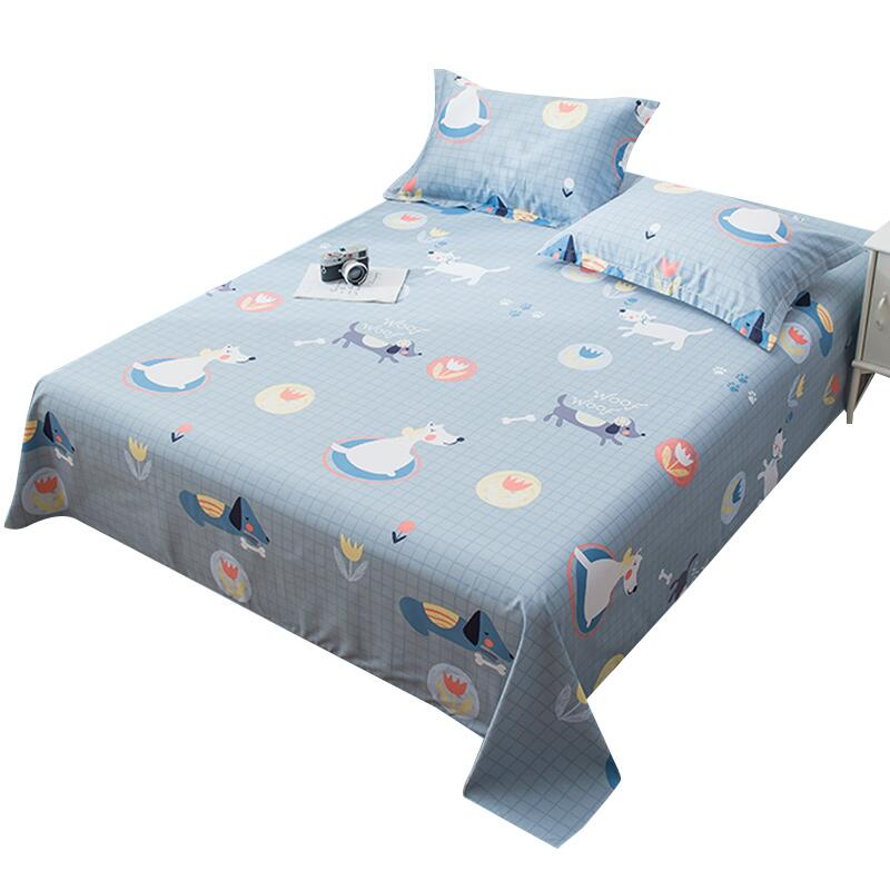 ins床單單件純棉學生宿舍單人被單1.8米1.5m床上三件套雙人單子女