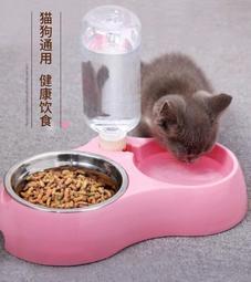 ✿優品之家✿餵食器-貓咪用品貓碗雙碗貓食盆不銹鋼碗飲水機自動喂食器貓盆狗寵物用品