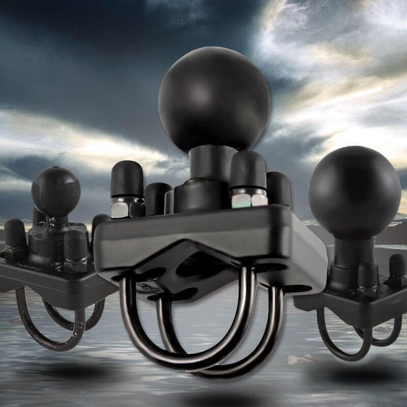 【優品機車】美國RAM 雙抱箍固定底座適用摩托車自行車工業車車把橫梁管道固定