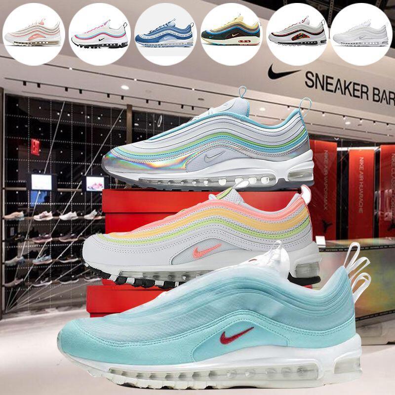 Nike Air Max 97 OG 子彈鞋系列 3M反光 男鞋 女鞋 黑色 全掌氣墊鞋 休閒運動鞋 黑白 百搭 慢跑鞋