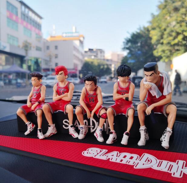 全網最低小號灌籃高手湘北五虎板凳軍團手辦公仔汽車擺件車內飾品車載套裝