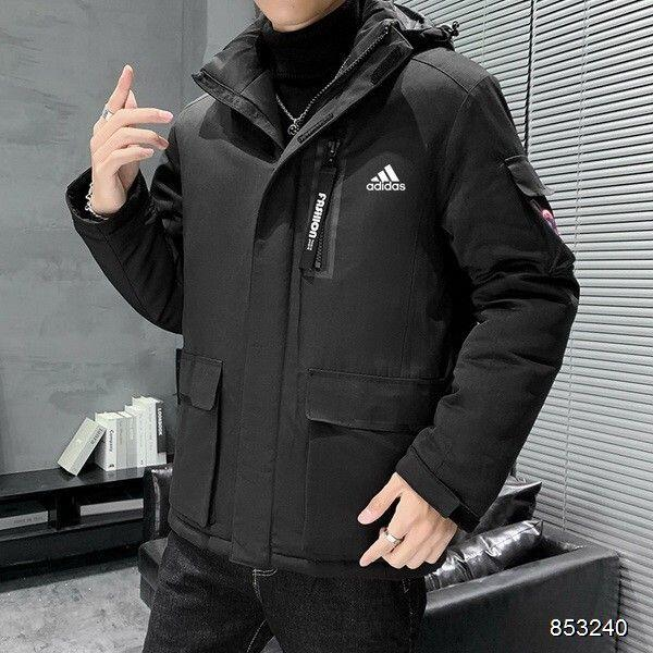 Adidas羽絨棉外套 Adidas外套 愛迪達棉衣 連帽外套 冬季防寒羽絨棉服 保暖外套 簡約百搭棉衣 男生棉服 上衣