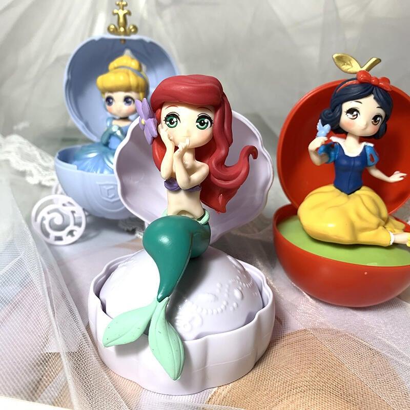白雪公主灰姑娘美人魚扭扭蛋球拼裝公仔擺件女孩版驚喜球趣味玩具