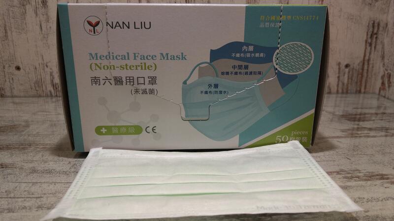 【南六】成人醫用雙鋼印平面口罩50入