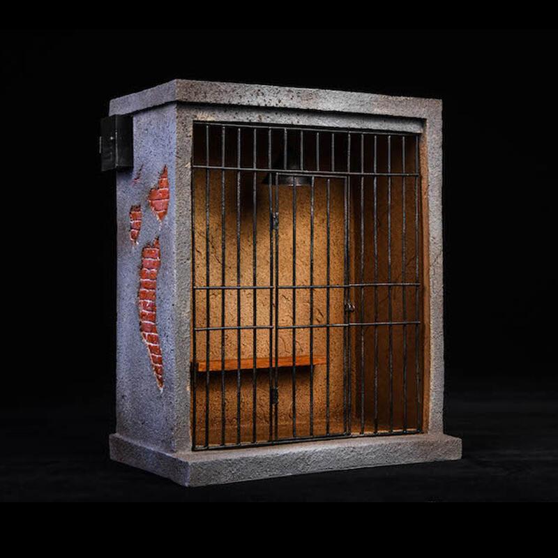 【兜兜新品】1/12兵人配件mezco小丑監獄圍欄場景6寸shf手辦模型囚籠牢房figma