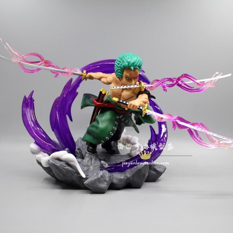 海賊王GK 加一 索隆 三千世界 劍氣鬼斬特效 Q版手辦雕像模型擺件