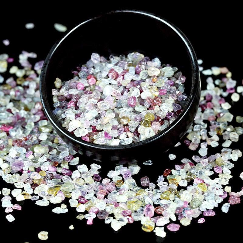 【天然水晶】純天然彩色剛玉紅寶石藍寶石diy飾品首飾配件奇石 魚缸布景石露天拍卖