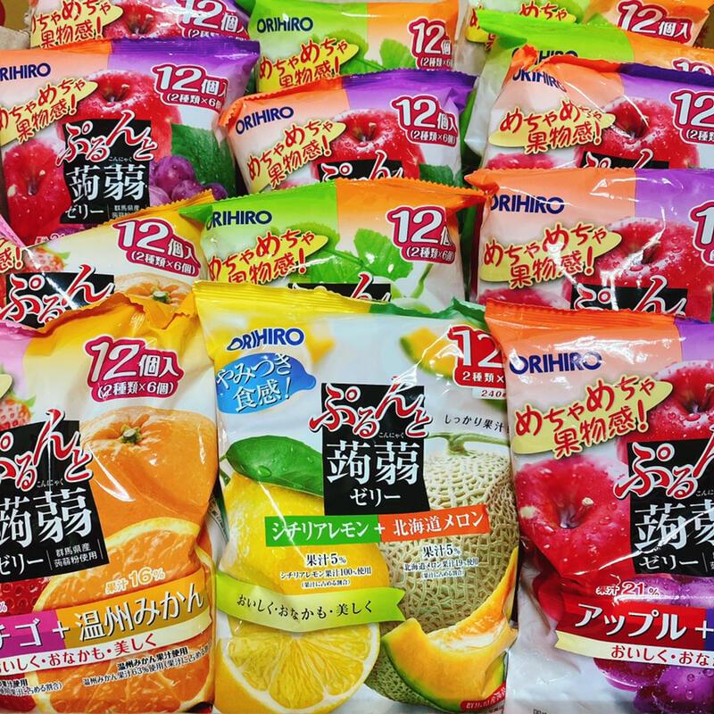 日本 超人氣 人氣3種の蒟蒻 / ORIHIRO 蒟蒻 果凍 擠壓式 蒟蒻