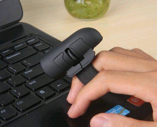 )新款無線迷你指環懶人滑鼠 滑鼠充電無線手指