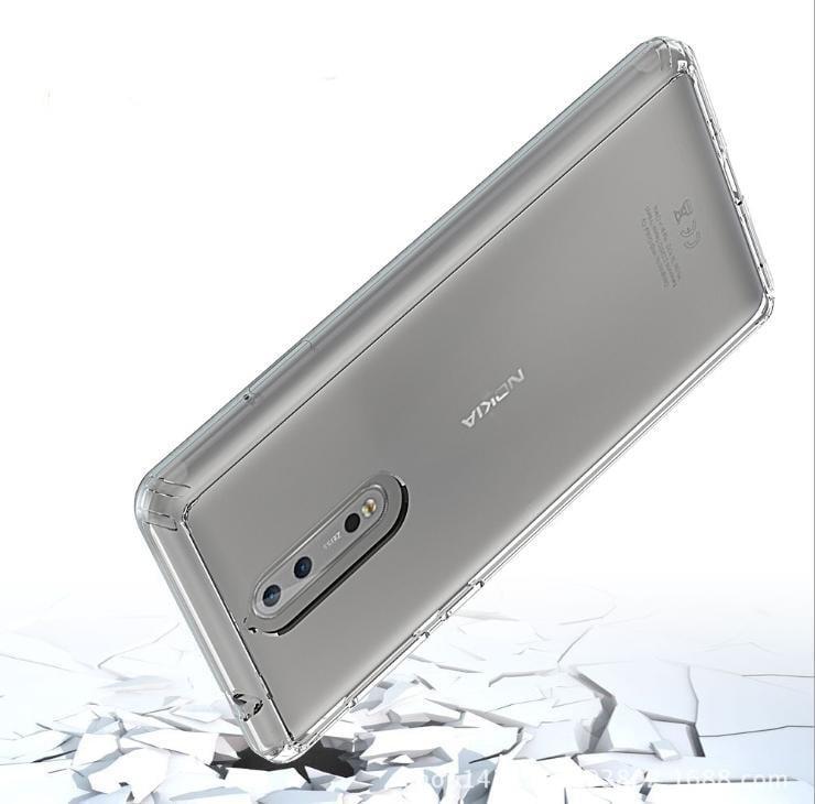 ~透明鎧甲諾基亞8 晶透亞克力 Nokia 8 TPU邊框歐美熱銷防摔透明殼-可開立發票-旺財商鋪