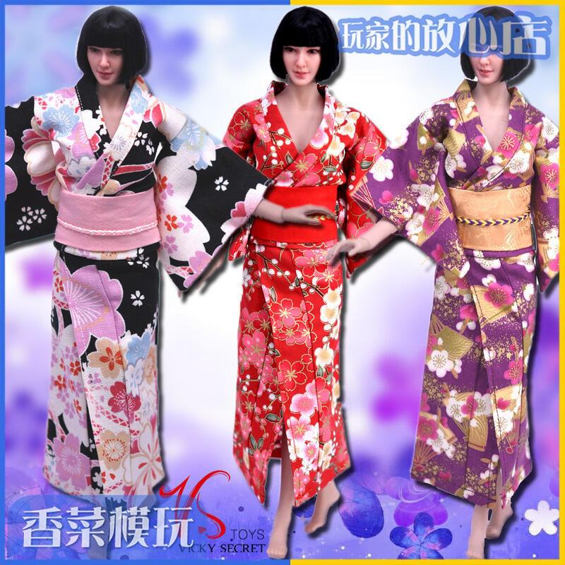 【新品上市】VStoys 1/6 和服 浴衣 服飾 適合phicen鋼骨包膠女素體 現貨