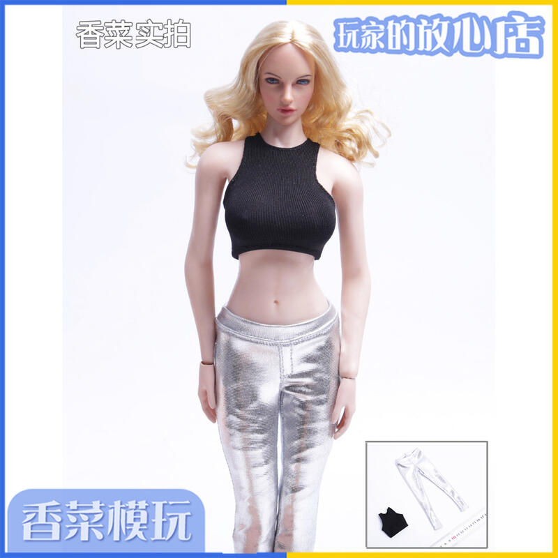 【新品上市】1/6兵人偶女性感背心鉛筆褲套裝性感服飾 適合phicen包膠素體現貨