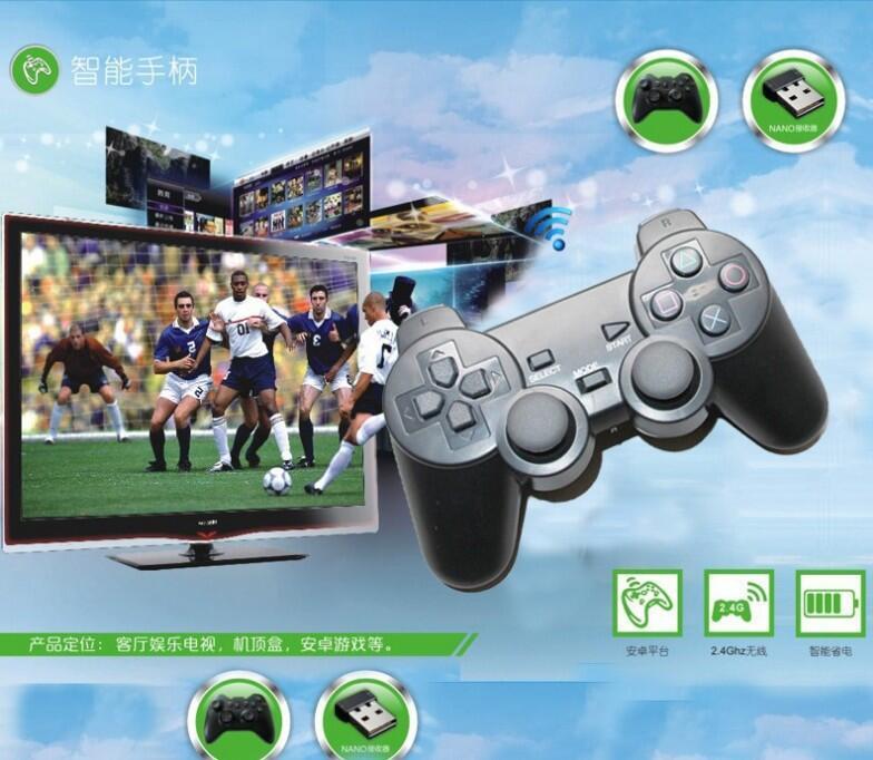 無線遊戲手柄智能電視安卓手機王者和平精英NBA2K小雞模擬器steamUSB 2.4G無線手把帶接收器 支援安卓系統
