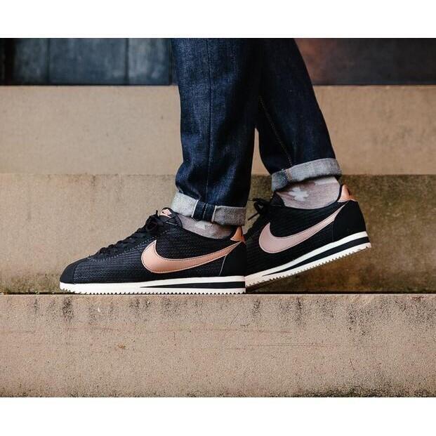 【50%OFF】Nike Wmns Classic Cortez Leather Lux 阿甘鞋 玫瑰金 黑