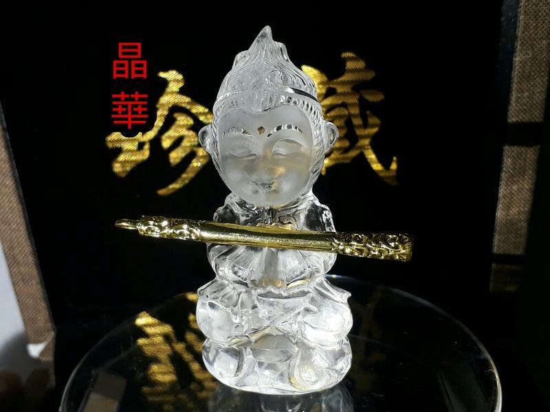 《晶華》 天然 白水晶 齊天大聖 孫悟空 實物拍攝 O10M