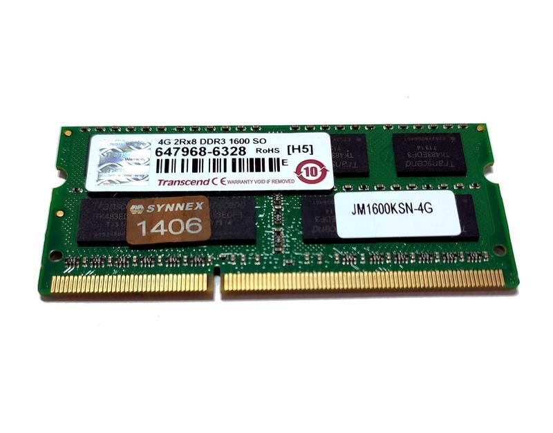 終身保固 創見 Transcend DDR3 1600 4G 1.5V 筆電記憶體