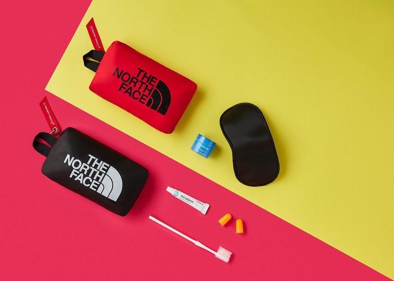 中華航空 華航 商務艙、豪華經濟艙 The North Face 盥洗包/過夜包/化妝包 黑色