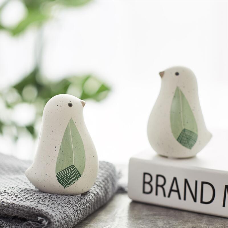 【快速出貨】 擺件 創意家居房間客廳臥室小鳥擺件裝飾品生日禮物個性辦公室陶瓷擺設
