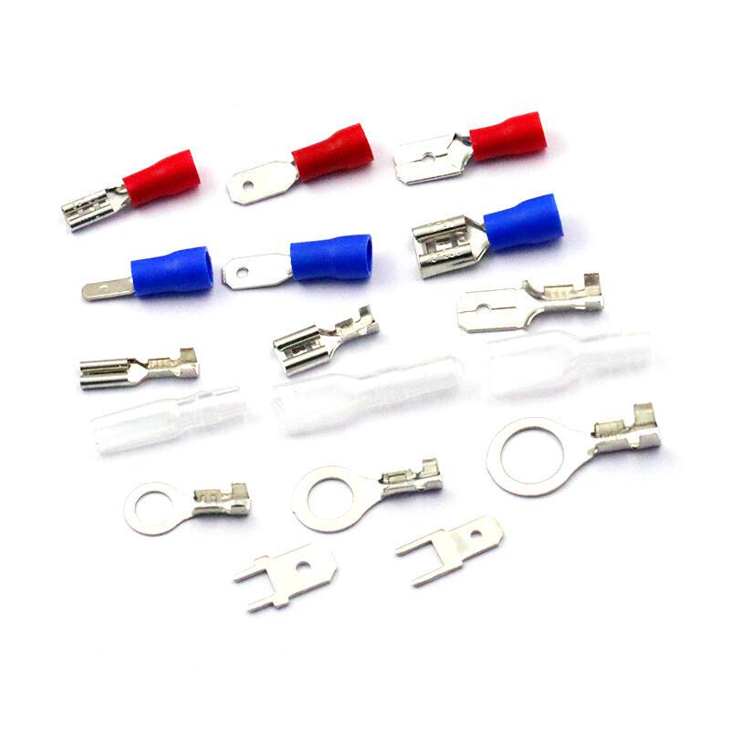 插拔式接線冷壓端子銅接插件6.3/4.8/2.8MM插簧端子片護套母接頭