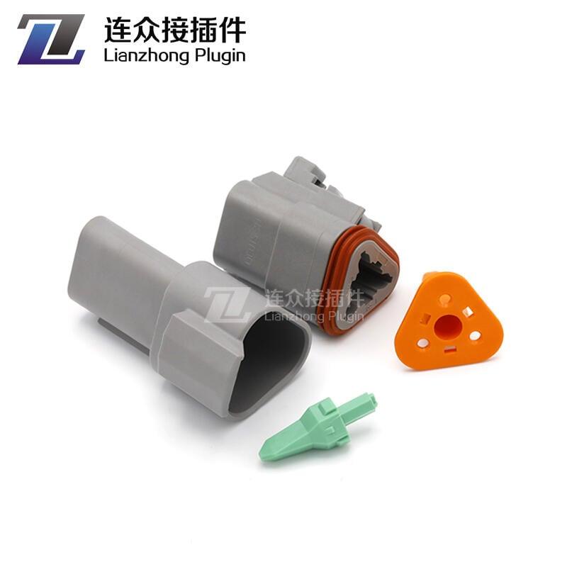 德馳連接器DT04-2P汽車防水接插件DT06-4S對接端子線束插頭帶線