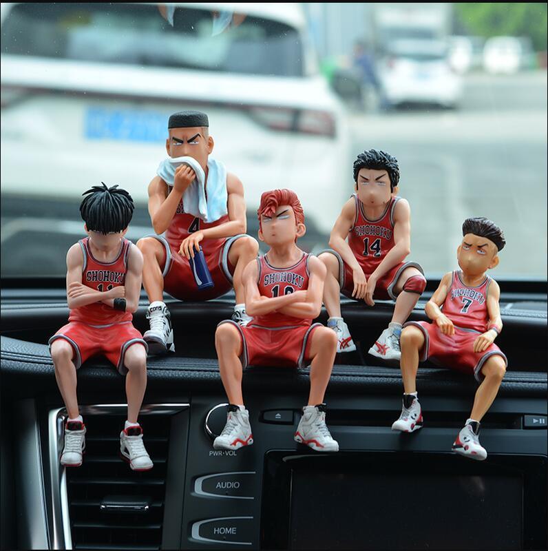 汽車擺件男車內飾品車載籃球公仔灌籃高手櫻木中控臺手辦號碼牌男