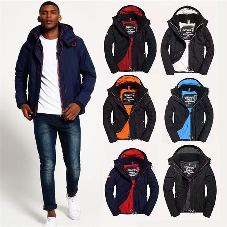 英國代購 極度乾燥 男女款保暖夾克衝鋒衣戶外登山服 Superdry 迷彩 三層拉鍊 防風 防潑水防寒 連帽風衣外套