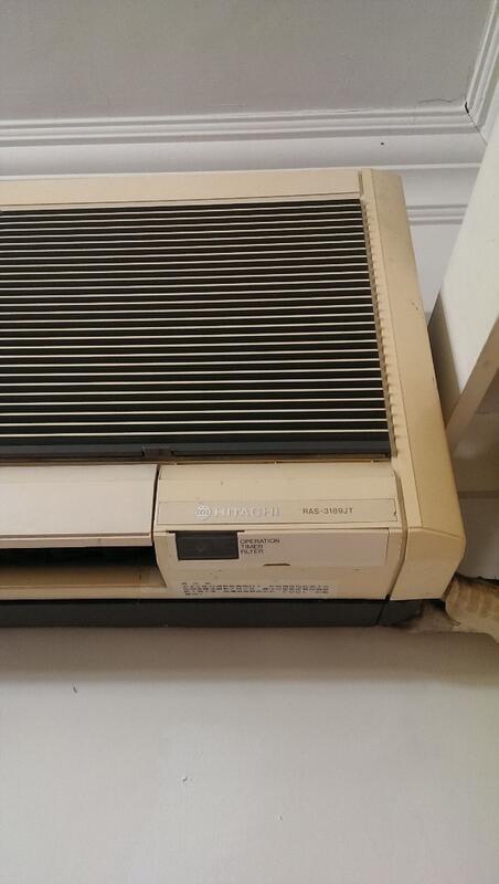 不冷不用錢~二手中古日立1.8噸分離式冷氣,年紀比較老,便宜賣,保固3個月,line帳號chin0290