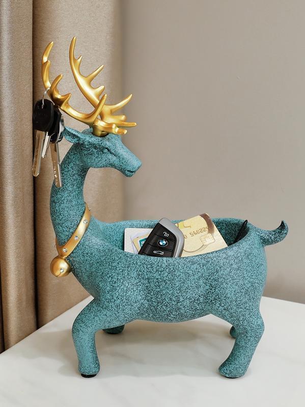鞋柜擺件玄關鑰匙收納盒 北歐風格裝飾鹿家里裝飾品客廳茶幾擺設【101雜貨鋪】