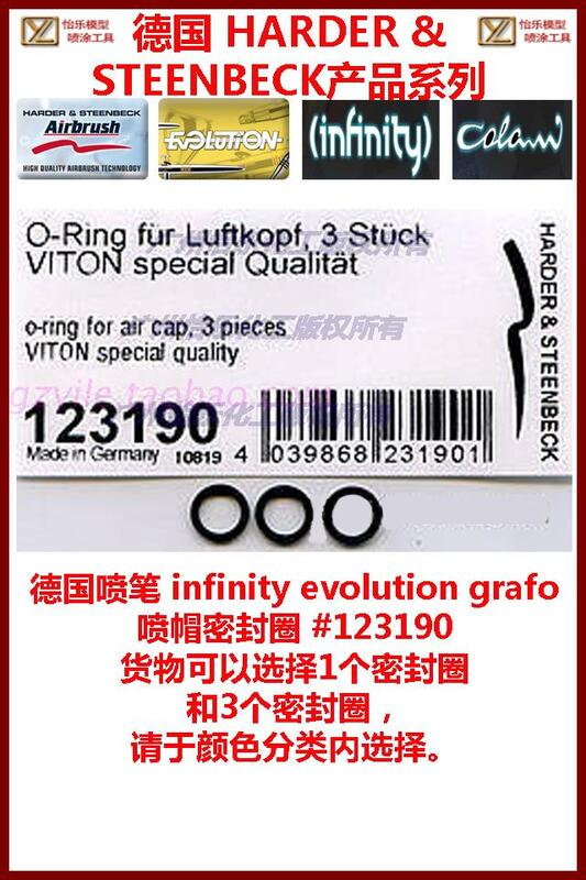 德國噴筆infinity evolution grafo 噴帽密封圈123190 cap o-ring
