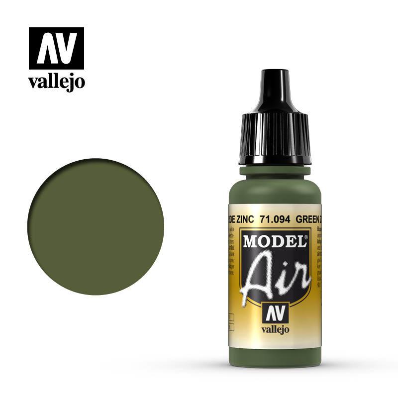 【奇模集】Vallejo Model Air 綠色  Green Zinc Chromate  71094