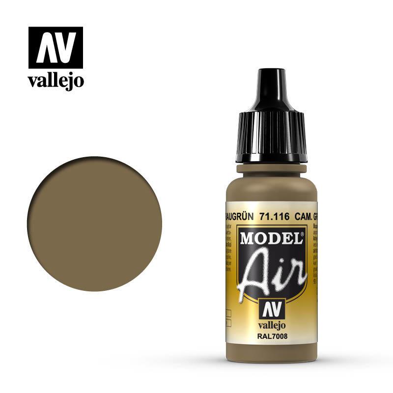 【奇模集】Vallejo Model Air Cam灰綠色 Cam. Gray Green   71116