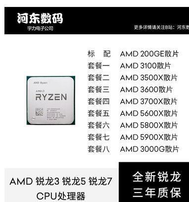 AMD銳龍 RYZEN R3 3100 R5 3500X 3600 5600X R7 3700X 5800X CPU