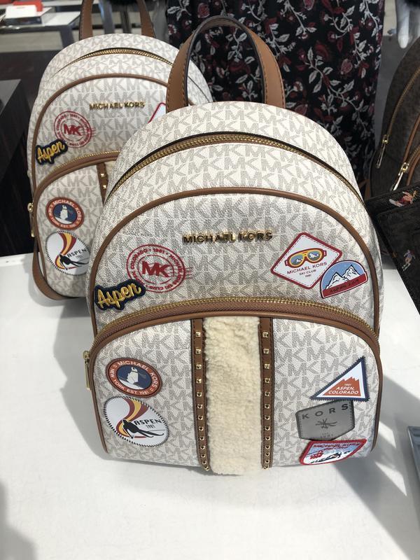 [A&H's]mk mickael kors 女生 女款 中型 後背包 旅行 拼貼 禮物 聖誕節 加拿大 代買 代購