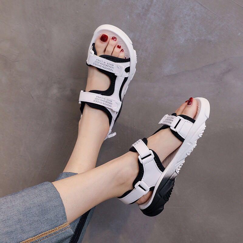 特價沖銷量運動涼鞋女新款韓版百搭漸變拼色透氣網面學生鞋超火百搭