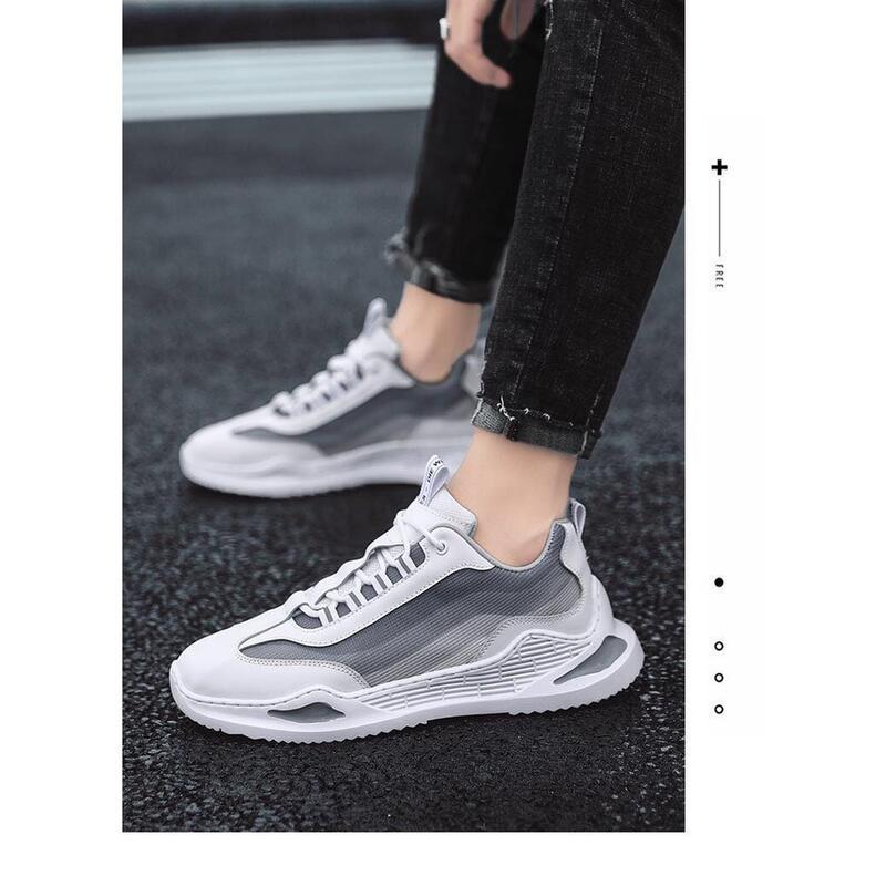 男鞋夏季透氣薄款新款韓版潮流百搭輕便休閑網面跑步運動潮鞋