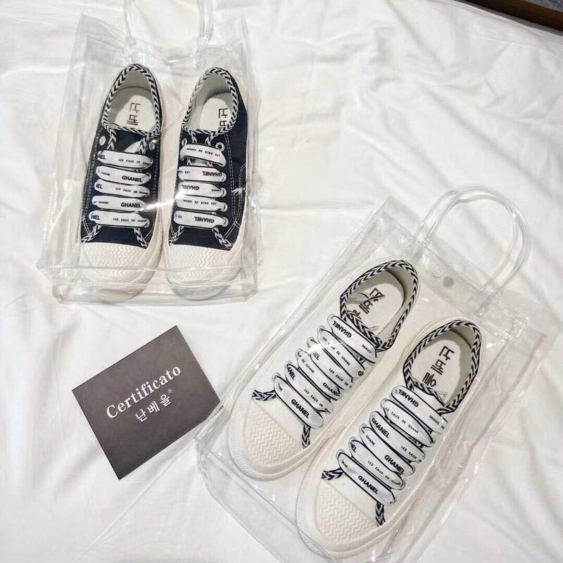 韓國ghanel小香風秋季新款韓版百搭小白鞋女平底單鞋女學生帆布鞋女板鞋