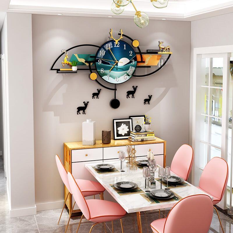 美世達北歐鹿頭沙發客廳背景墻墻畫裝飾品臥室床頭房間后墻上掛畫