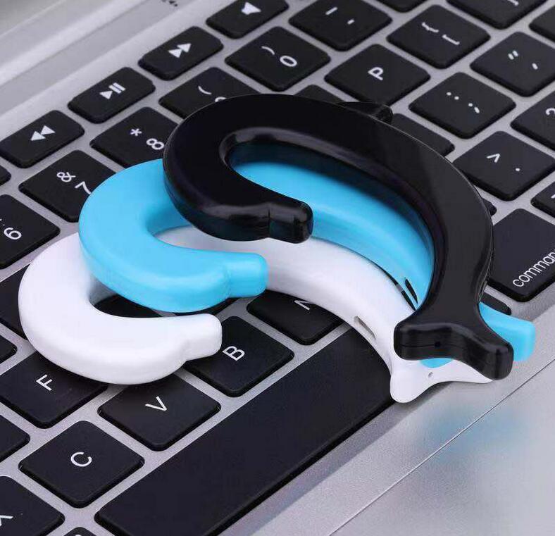 藍芽耳機  爆款5.0骨傳導概念不入耳掛耳式藍牙耳機 耳掛式運動無線藍牙耳機