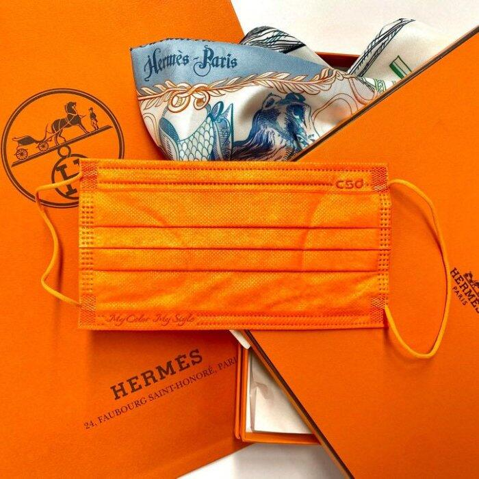 中衛潮橘盒裝30入   成人平面口罩