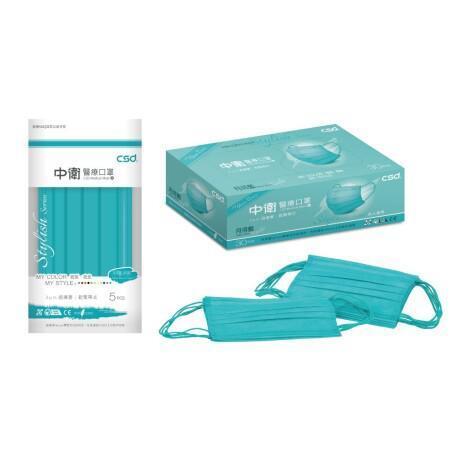 中衛單剛月河藍盒裝30入   成人平面口罩 已絕版