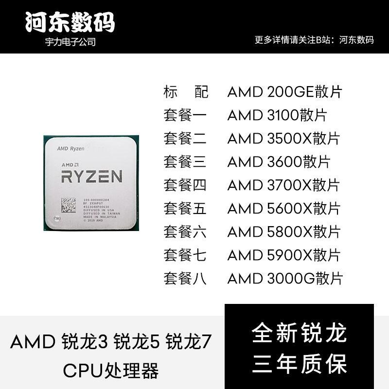 【小洋嚴選】AMD銳龍 RYZEN R3 3100 R5 3500X 3600 5600X R7 3700X 5800X