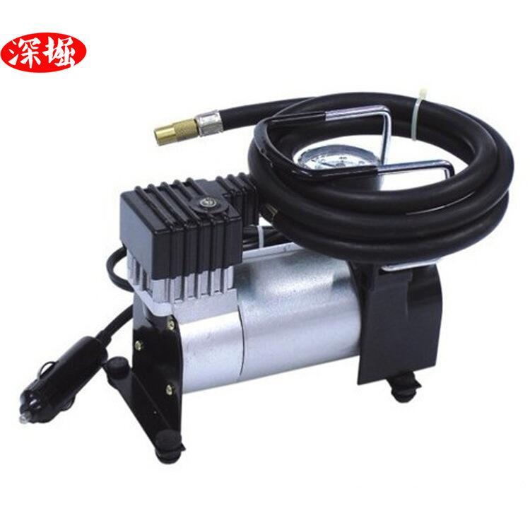 快速發貨 B款高壓金屬車載充氣泵 12V手提式輪胎打氣筒 打氣機3分鐘上氣
