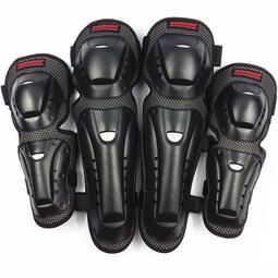 SX032摩托車護具機車騎行越野裝備滑翔防摔護膝護肘四件套