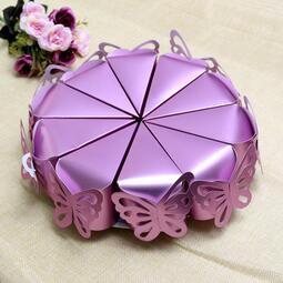 快速出貨 婚慶用品結婚糖果盒小隨身帶蛋糕喜糖盒子抖音歐式個性創意空盒伴手禮紙盒