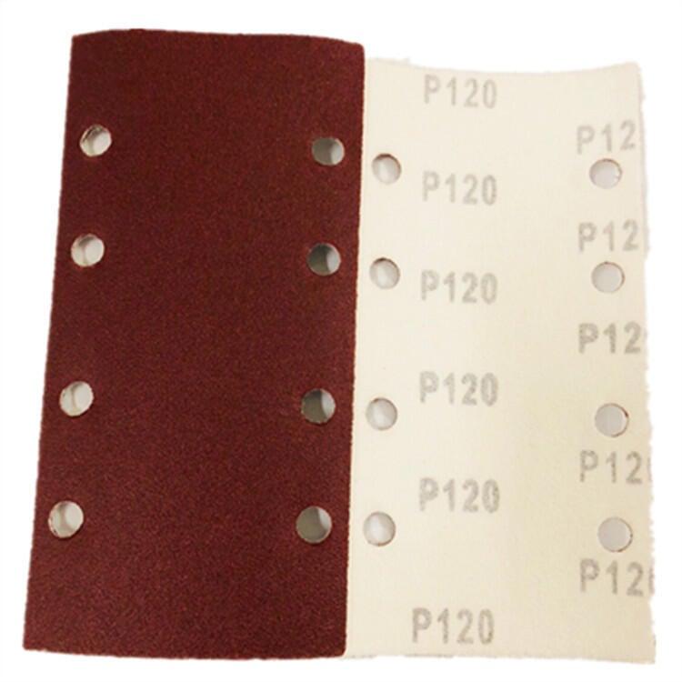 快速出貨 五金工具跨境電商產品 外貿套裝植絨方砂紙8孔190*93mm50片套裝