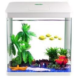 小型金魚缸家用小魚缸迷你水族箱桌面生態魚缸免換水懶人魚缸造景 萬聖節狂歡[可開發票]