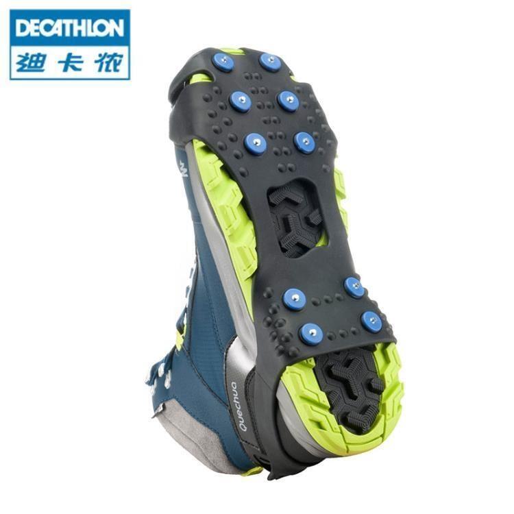 迪卡儂 冰爪戶外登山防滑鞋套釣魚雪地冰面防滑冰爪 Qush