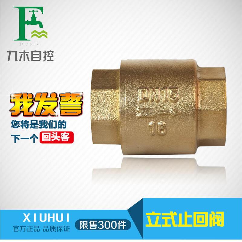 立式銅止回閥 單向閥逆止閥 銅閥4分6分1寸2寸銅止回閥銅閥